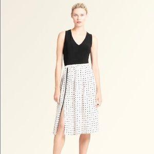 DONNA KARAN Skirt Polka Dot Mid Calf A-Line New XL
